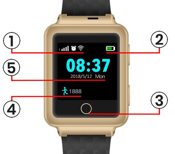 GPS locator smartwatch + Play card + GPS Acurel 1 year